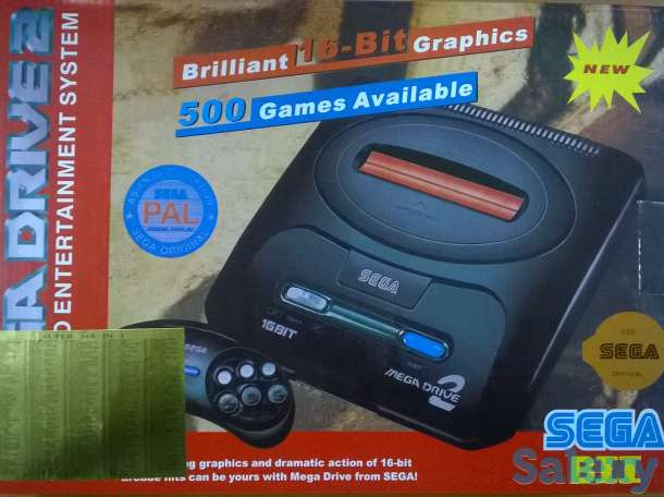 Sega Mega Drive 2 игровая приставка, фотография 1