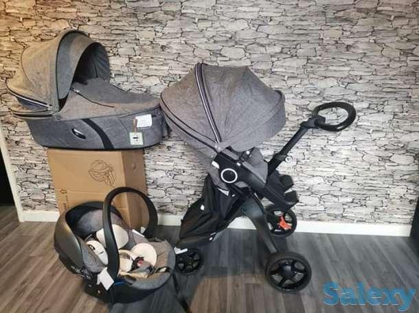 stokke xplory v6 полная детская коляска 3 в 1, фотография 1