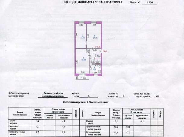 Срочно продается 3ех комнатная квартира , Есет батыра 27 кв 42, фотография 7