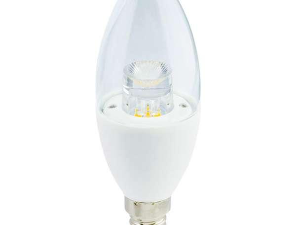 LED светодиодная лампа Свеча CA37 E14 6W Eco-Svet (Лед), фотография 1