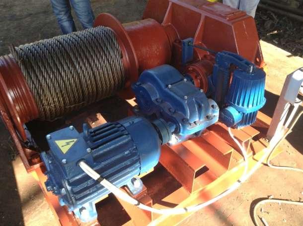 Лебедка маневровая электрическая ЛМ-3,2 с тросом, фотография 3