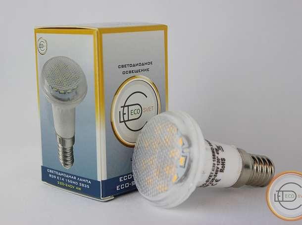 Светодиодная LED лампа R39 4W E14 100V-260V Eco-Svet Алматы Акция!!!, фотография 2