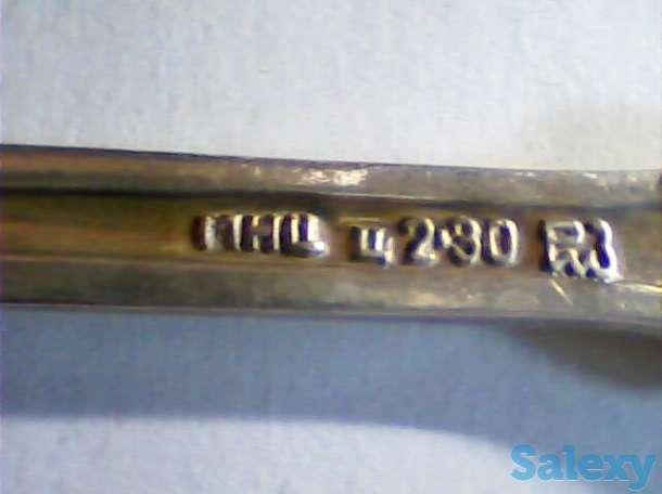 Мельхиоровые чайные ложки посеребренные СССР, фотография 2