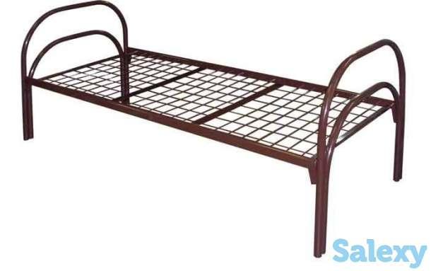 Железные кровати для казарм, кровати металлические одноярусные, двухъярусные, фотография 1