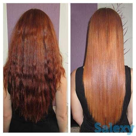 кератиновое выпрямление волос, бразильский состав, любая длина волос 10 000 тыс тг.  ботокс, полировка волос, ламинирова, фотография 1