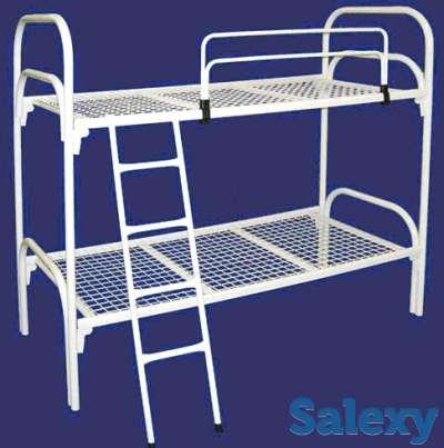 Железные кровати для казарм, кровати металлические одноярусные, двухъярусные, фотография 2