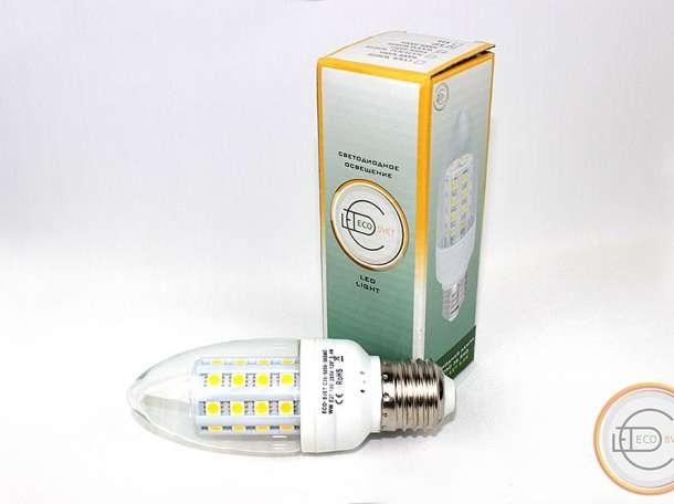 LED Светодиодная лампа С35 5,4W ECO-SVET, фотография 1