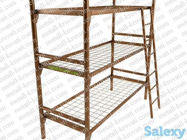 Железные кровати для казарм, кровати металлические одноярусные, двухъярусные, фотография 4