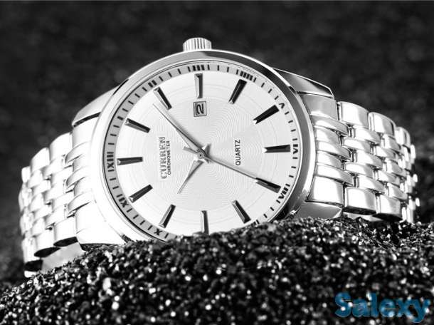 Кварцевые наручные часы Curren Chronometer, новые, в подарочной упаковке, фотография 3